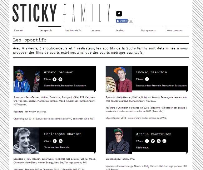 Equipe du site Sticky Family