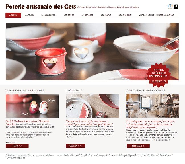 Site : Poterie artisanale des Gets