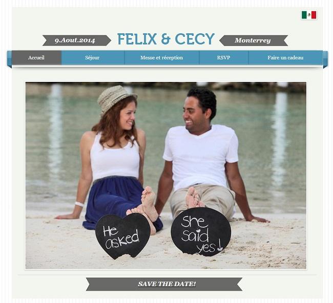 Site du mariage de Felix et Cecy