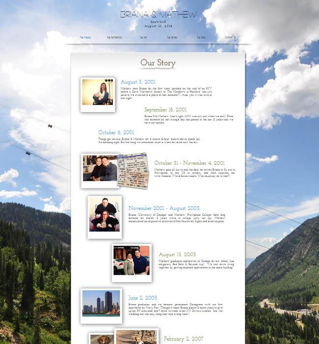 Site du mariage Briana et Mathew