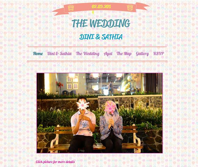 Site du mariage de Dini et Sathia