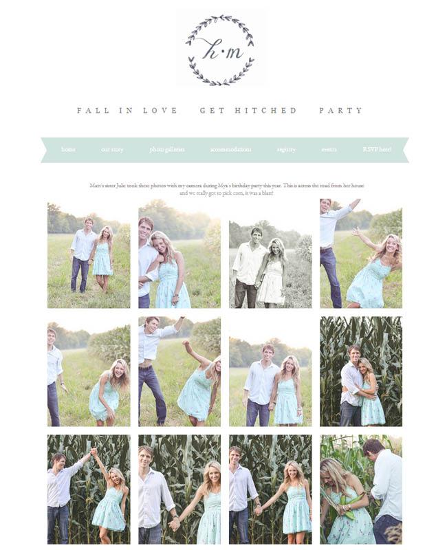 Site du mariage d'Heather et Matt