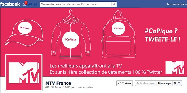 Couverture Facebook de MTV France