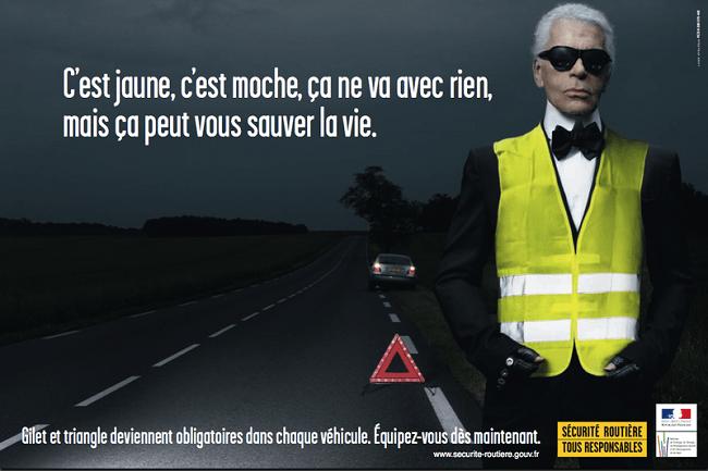 Publicité pour la sécurité routière