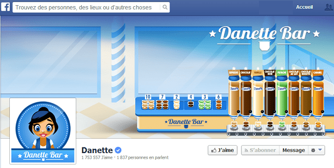Couverture Facebook de Danette
