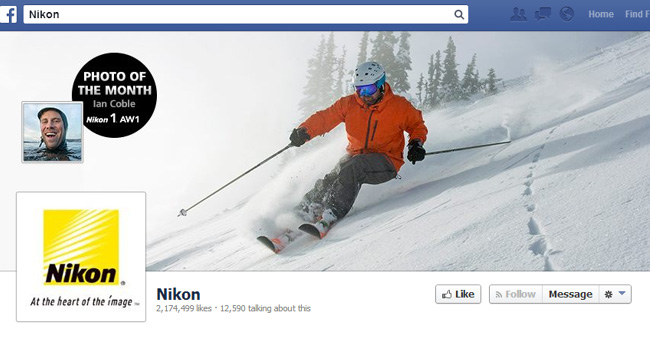 Couverture Facebook de Nikon