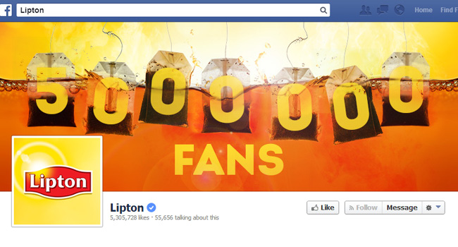Couverture Facebook de Lipton