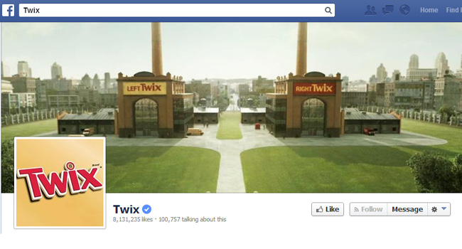 Couverture Facebook de Twix