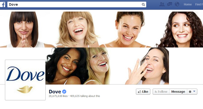 Couverture Facebook de Dove