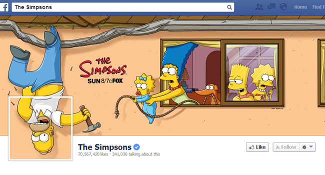 Couverture Facebook des Simpsons