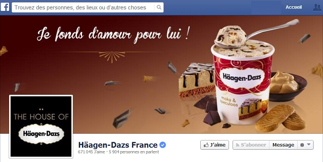 Couverture Facebook de Häagen-Dazs France