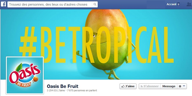 Couverture Facebook de Oasis