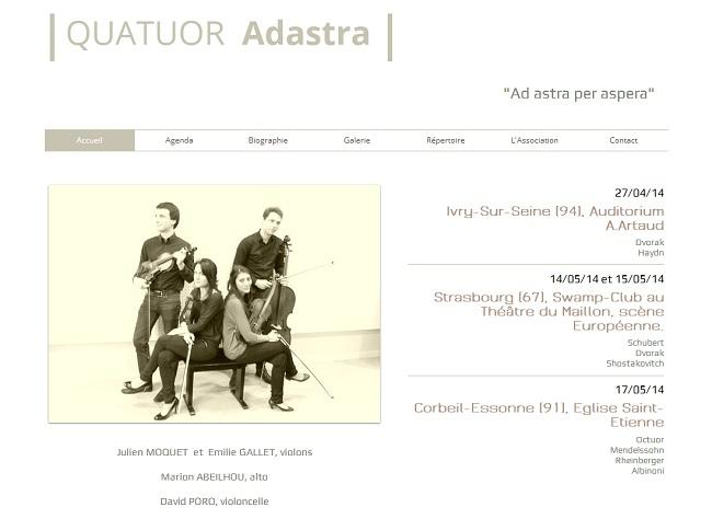 Quatuor Adastra - Site Officiel