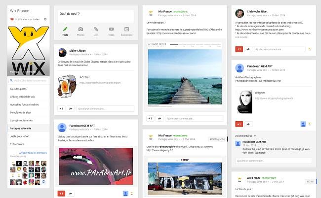 Communauté Wix France sur Google +