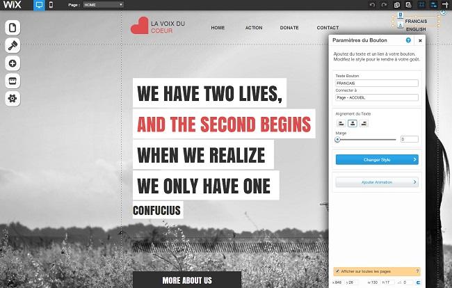 comment cr er un site wix multilingue le blog de. Black Bedroom Furniture Sets. Home Design Ideas