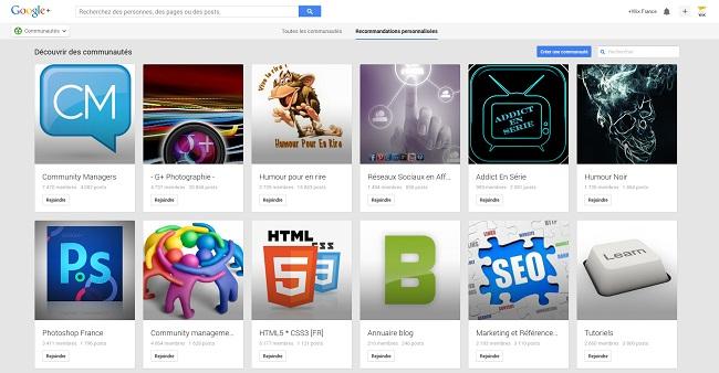 Communautés - Google+
