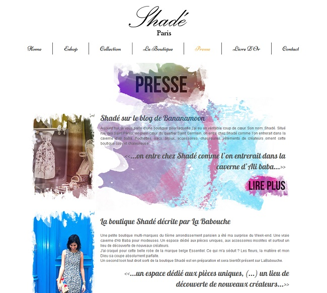 Shadé - Presse
