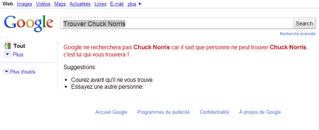 Trouver Chuck Norris   Google Search
