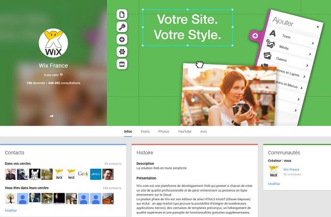 Wix France - Google+