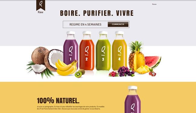 Exemple de LP qui utilise une image de ses produits