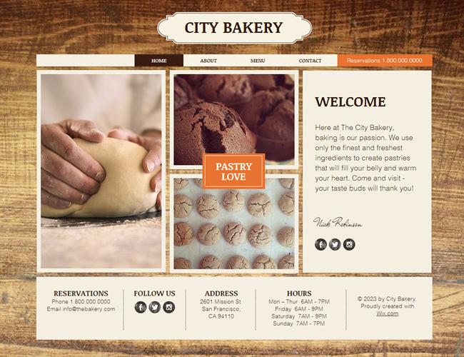 Template d'origine : Boulangerie Artisanale