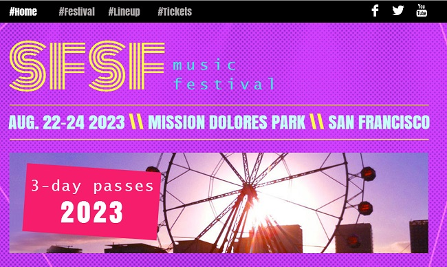 Music Festival Template de Site   WIX