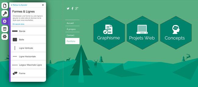 Utilisation de formes dans l'éditeur Wix