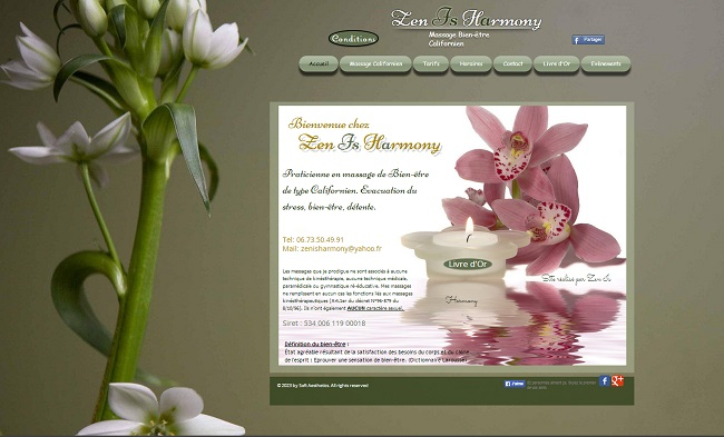 Zen is Harmony - site Wix