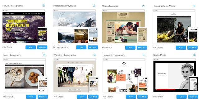 Templates de Sites HTML pour Photographie