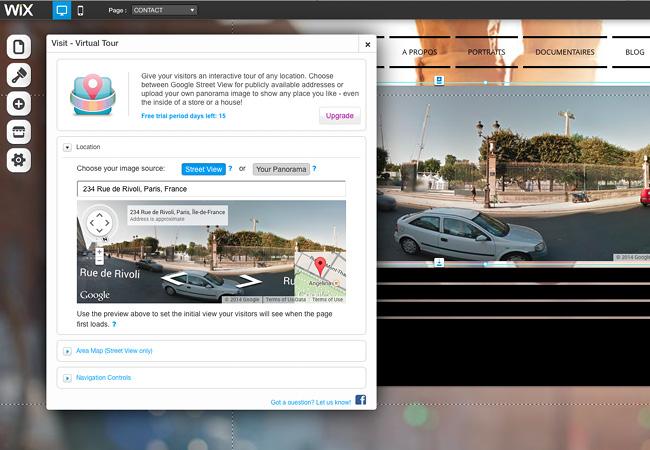 Application : Visite virtuelle