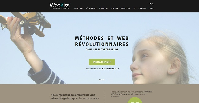 WebKiss utilise une large image
