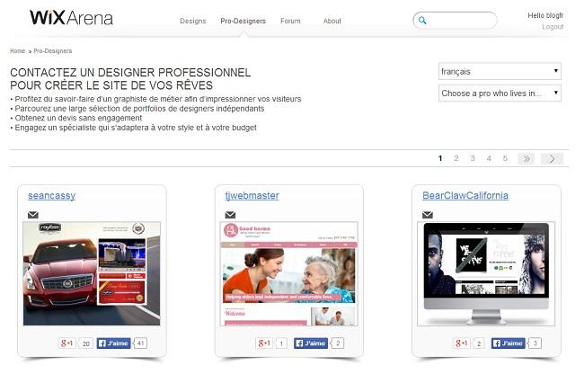 Designer indépendants francophones