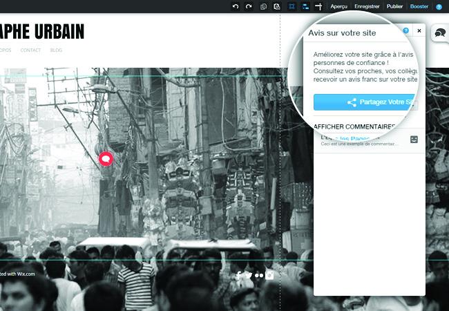 Avis sur votre site Wix