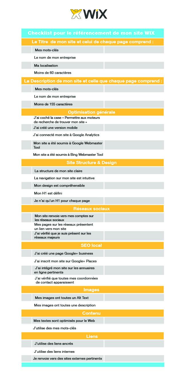 Checklist du référencement - Le Blog Officiel de Wix