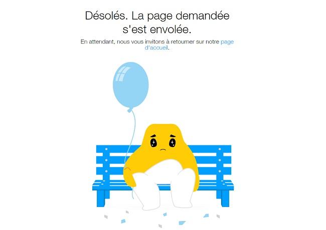 Page 404 du Wix blog