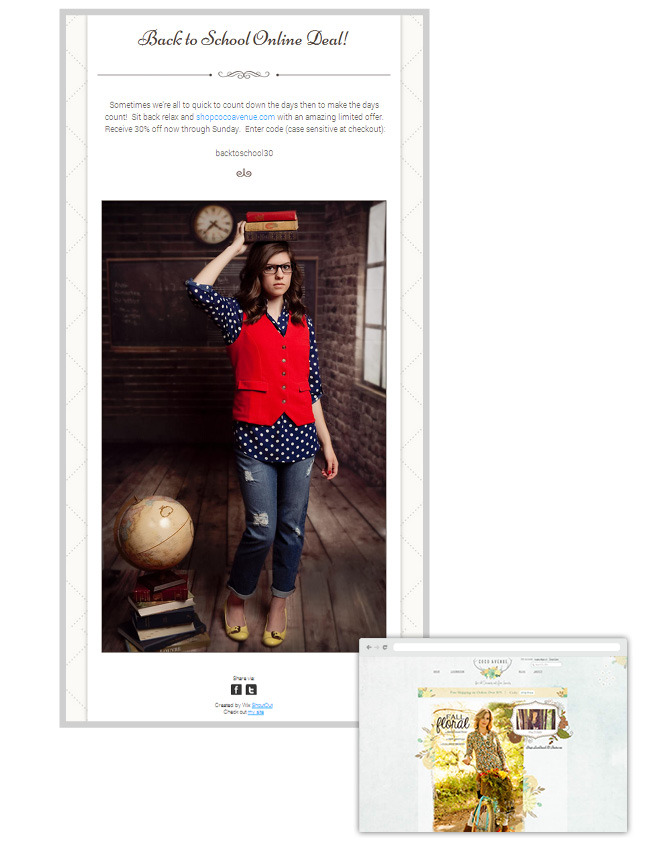 Coco Avenue - newsletter Wix