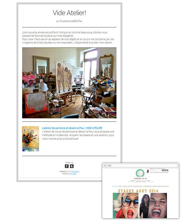 Latelier Peinture  - newsletter