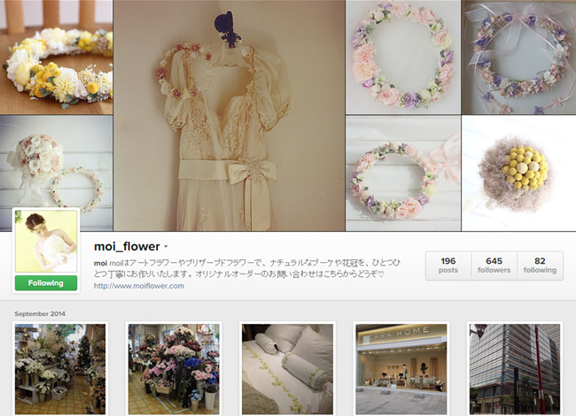 Moi Flower sur Instagram