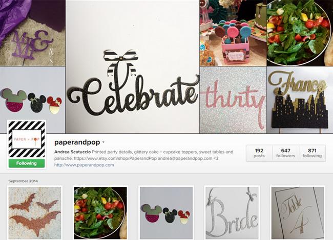 Paper and Pop sur Instagram
