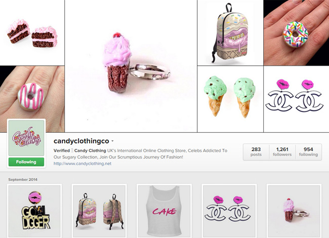 Candy Clothing sur Instagram