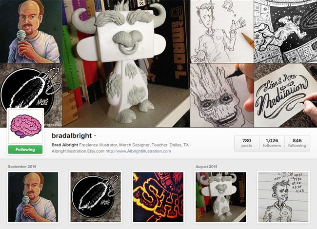 Brad Albright sur Instagram