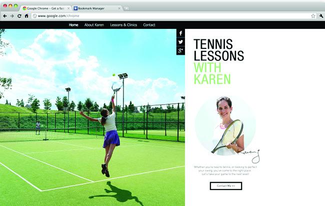 Templates Wix : cours de tennis