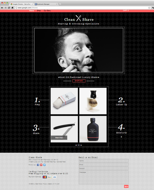 Template Wix : barbier
