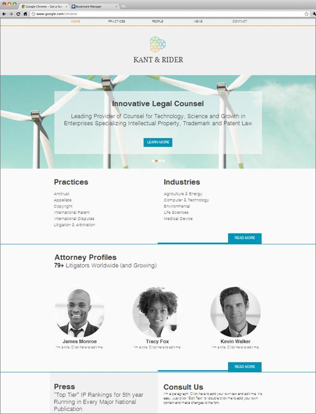 Tempalte Wix : cabinet d'avocats