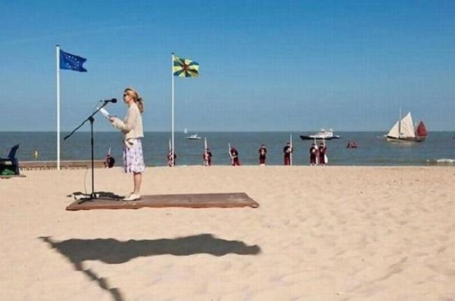 illusion d'un tapis volant