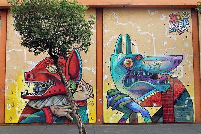 Art urbain Photo de curiot Mexico city