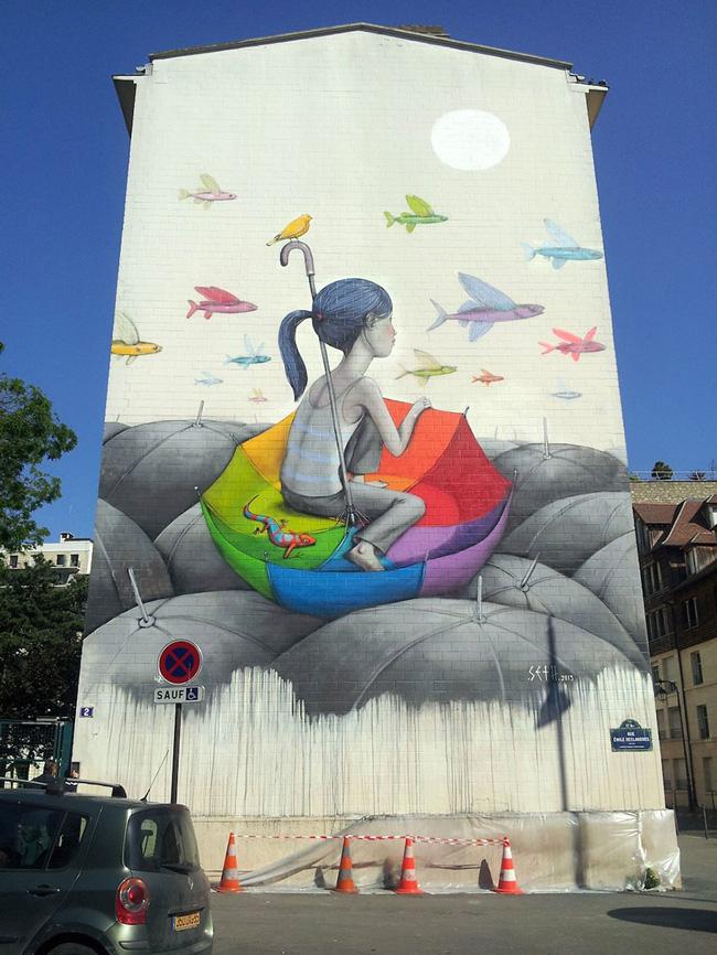 Art urbain à Paris par Seth