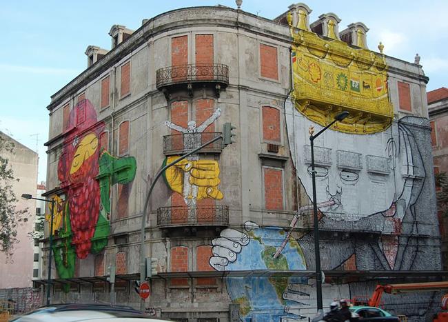 Art Urbain à Lisbonne par Os Gémeos