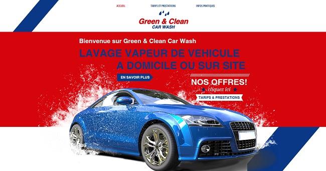 Green & Clean : lavage vapeur de véhicule à domicile ou sur site
