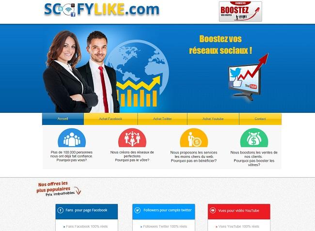 Scofy Like : service de marketing pour les réseaux sociaux